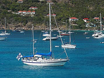 Scorpio anchored in Gustavia