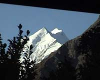 Mt Cook from window