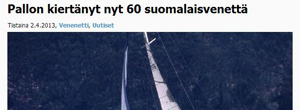 60 Finnish yachts have circumnavigated